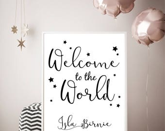 Welcome to the world, New Baby, Baby Shower   Print