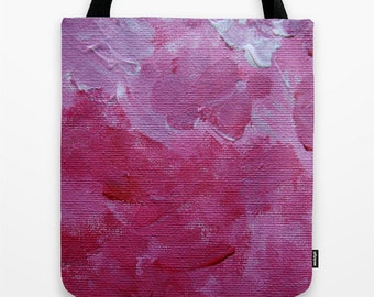 Abstract Paint Tote Bag Design, Pink and White, Abstract Photography, Painting, Colourful Photography, Clothing Accessory, Art Photograph