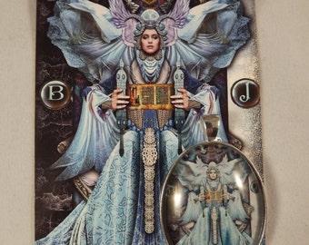 High Priestess Tarot Illuminati cabochon pendant