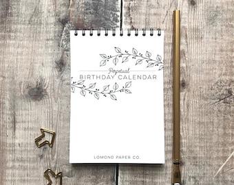 Perpetual Birthday Desk Calendar - Birthday Calendar - Desk Calendar - Birthday List - Birthdays - Anniversaries