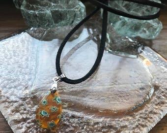 Millefiori, millefiori pendant, millefiori necklace, millefiori bead necklace, millefiori jewelry, millefiori glass pendant