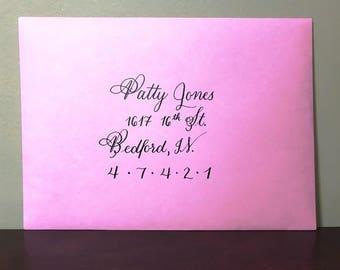 Handwritten Calligraphy Envelopes, Wedding Envelopes, Envelope Calligraphy, Save the Date Addressing
