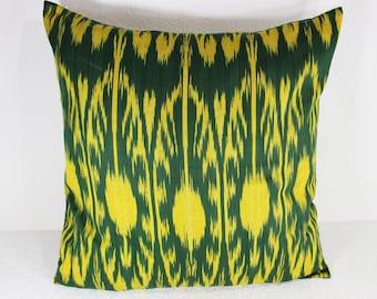 Cotton Ikat Pillow, Ikat Pillow Cover,  C162, Ikat throw pillows, Designer pillows, Decorative pillows, Accent pillows