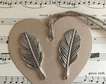 Large feathers charms lot