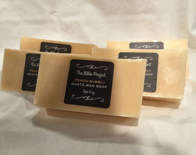 Peach Bubbly Goats Milk Soap