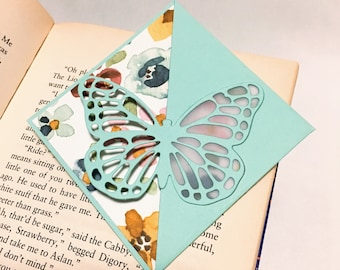 Butterfly Corner Bookmark - Skyblue - for books and planners!