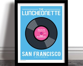 The Luncheonette - Parenthood Vinyl Record Art Print Poster