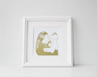 Preview - Foil Prints - Silhouette Photographs - Personalised - Handmade - Prints279