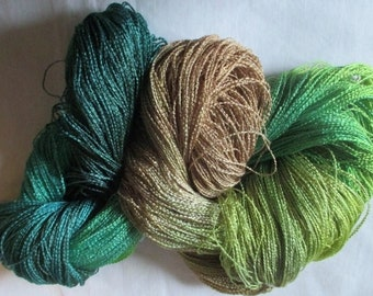 Handpainted Yarn-Soft Rayon Boucle lace Wt. - 688 yds - FREEBIRD