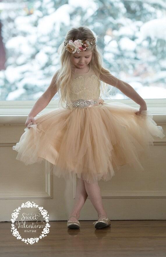 white tulle flower girl dresses