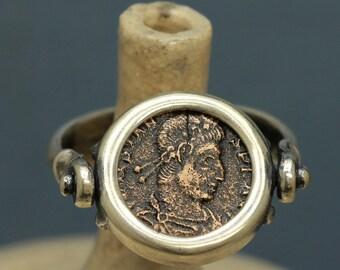 6304 Roman Bronze Flip Ring