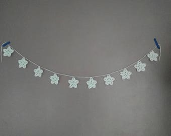 Crochet star Garland, star Garland, Garland Kids room, garland baby room, crochet star, Christmas Garland, crochet Christmas garland