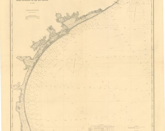 Gulf Coast Historical Map 1883