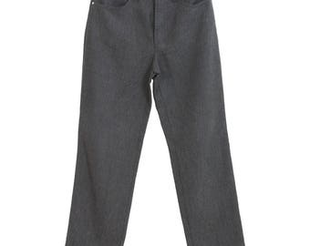 Versace jeans couture vintage gray pants trousers women made in italy size XS regular