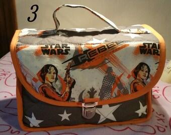Pattern star wars kids school bag