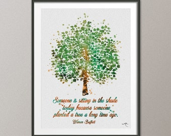 Tree Nature Quote 2 Family Motivational Watercolor Print Wedding Gift Archival Art Print Wall Decor Art Home Nursery Wall Hanging [NO 746]
