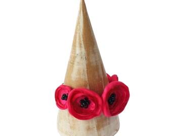 Tief rosa Stoff Blume Poppy Armband