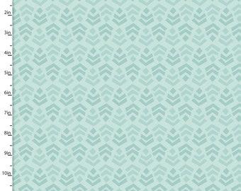 Aqua Arrows Fabric, 3 Wishes Little Forest 12951 Turq, Tone on Tone Aqua Quilt Fabric, Southwestern Aqua Blender Fabric, Cotton Yardage