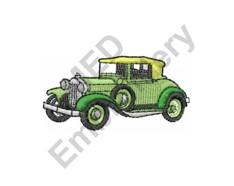Car - Machine Embroidery Design, Antique Car