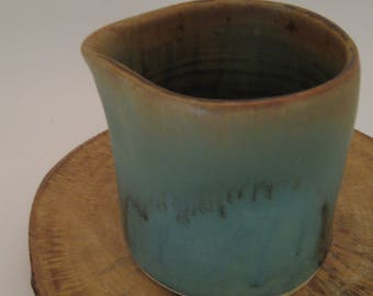 Wheel Thrown Pottery Thumbprint Small Pitcher