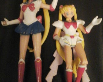 """Vintage Sailor Moon Figures 5""""And The 4"""" Has The Adjustable Arms And Legs"""