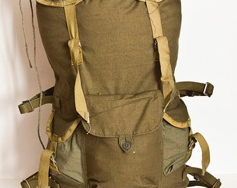 Soviet military canvas backpack - Army backpack, Vintage bag, Made in USSR