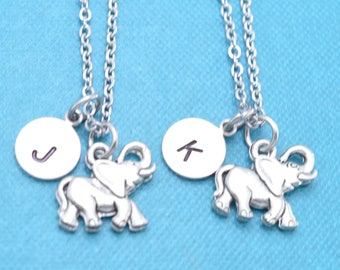 Best friend necklace. Elephant Necklace. Best friend gift. Bff necklace. Friendship Necklace.  Sister Necklace.  Mother Daughter Necklace