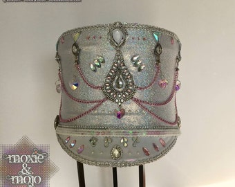 "Burning Man hat, Festival Headpiece, Costume Hat, Marching Band Hat: ""Mermaid Dreams"""