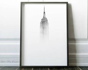 NY Architecture Photography print, PRINTABLE art » Modern Home Decor » New York Print » Minimalist » Modern Photo Print » Architecture Print