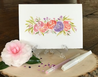 hand made watercolor card, Birthday, Mother's Day, Easter, hostess gift