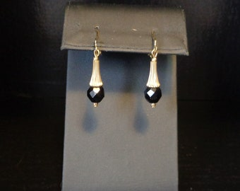"""Sarah Coventry """"Dancing Jet"""" Clip On Earrings"""