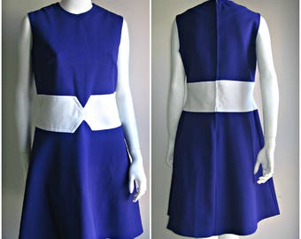 60s 70s vtg mod colorblock dress