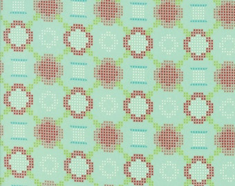 Handmade - Cross Stitch Aqua by Bonnie and Camille for Moda, 1/2 yard, 55144 12