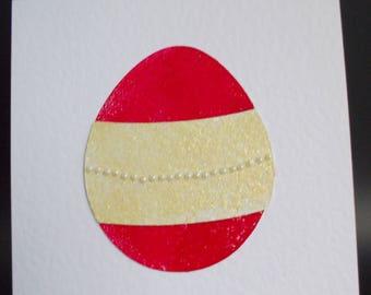 Easter Egg - Red - Handmade Card