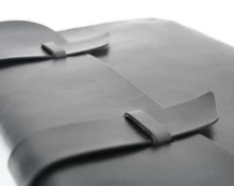 Leather iPad Case - Black