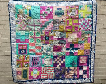 Traditional Patchwork Quilt, Hand Made quilt, sofa throw or Lap quilt