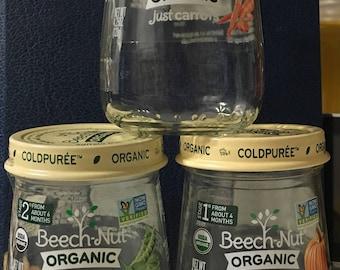 20 Clean Baby Food Jars