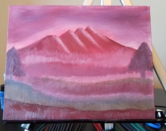 Purple Mountain Oil Painting