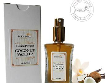 Coconut Vanilla Eau De Parfum, Natural Coconut Vanilla Perfume, Vegan Perfume, Gift Idea