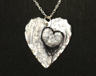 Custom Photo Necklace with Silver Detail