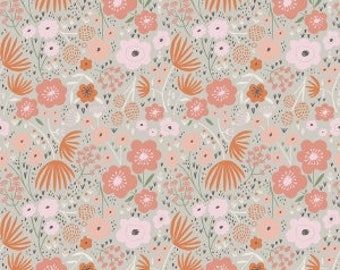 Ava Rose Floral in Gray by Deena Rutter for Riley Blake Designs