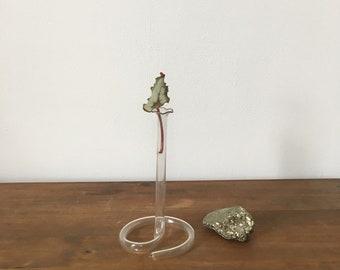 vintage glass test tube bud vase. interior design home decor mid century science bud vase. chemistry vintage glass vase
