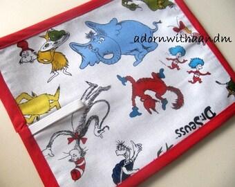Chalkimamy Dr. Seuss TRAVEL chalkboard mat placemat (a)