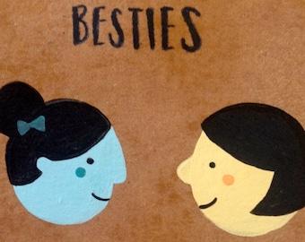 Original Mini Artwork | Besties