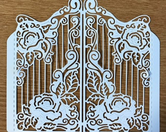 Tattered lace - Rose Gateway die cut x 1