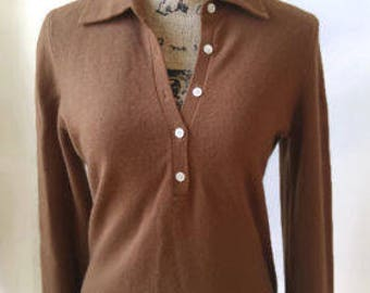 Vintage cashmere Brown long sleeve sweater by Bloomingdale's