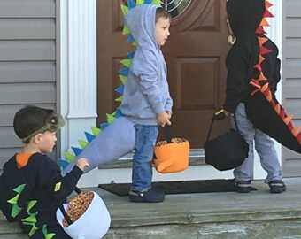 Toddler Dinosaur Sweatshirt & Tail Halloween Costume Birthday Christmas Gift Dragon