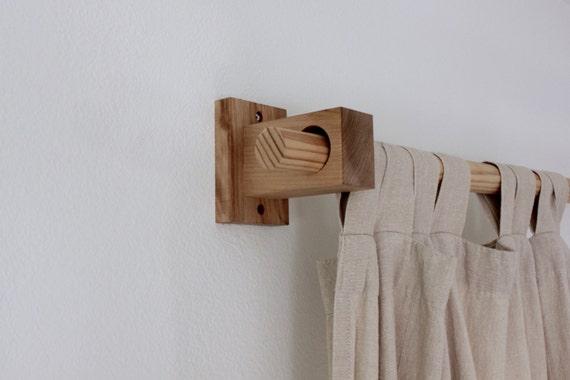 Curtain Holders, Curtain Rod Holders, Modern Wood Brackets, Curtain Bracket
