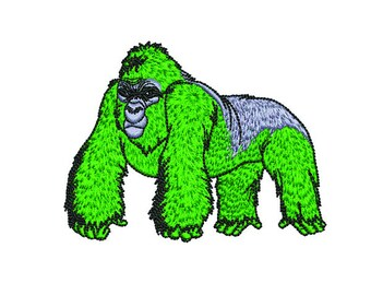 gorilla monkey-embroidery design ~ INSTANT DOWNLOAD ~ Machine Embroidery Pattern