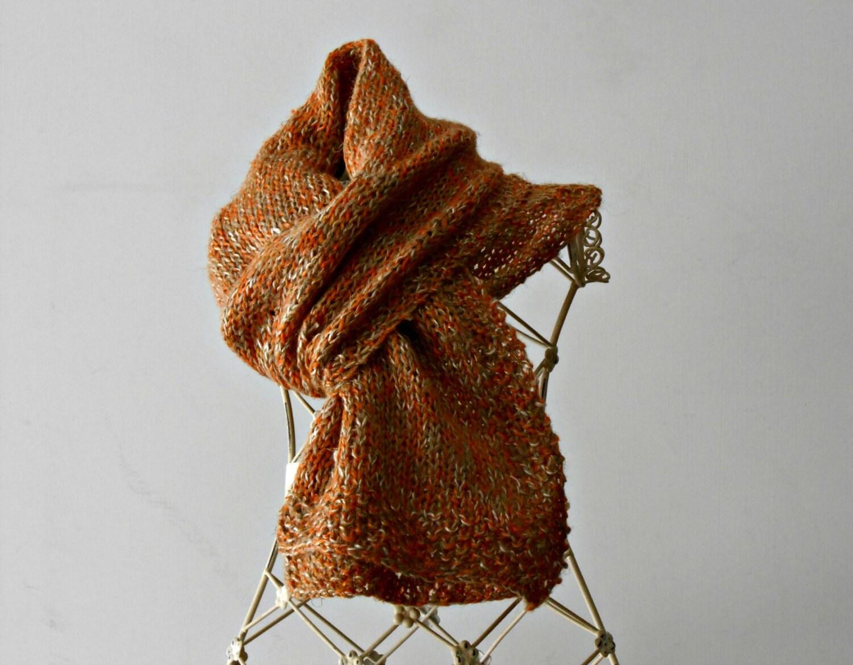 Popolare sciarpa da uomo lavorata ai ferri in lino tweed colori grunge UU99